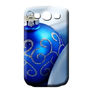 samsung galaxy s3 phone carrying cover skin Snap Popular Scratch-proof Protection Cases Covers christmas blue ball