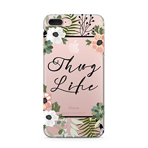 Milkyway Cases THUG LIFE Clear TPU Cell Phone Case for iPhone 7