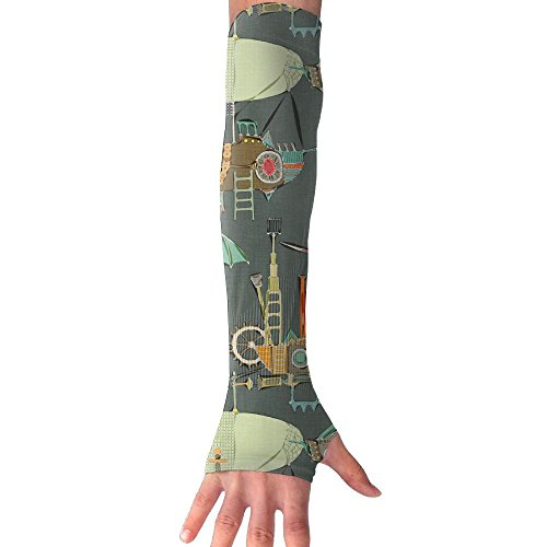 Sunscreen Gloves Steampunk(1254) Ice Silk Gloves With Comfortable And Breathable Moisture Absorption And Perspiration Of Unisex Sunscreen Arm Sleeves Outdoor Gloves by Eobiico