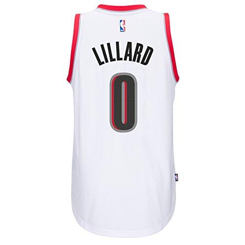 Damian Lillard Portland Trail Blazers Adidas Home Swingman Jersey (White) XL (Swingman Portland Trailblazers Jersey)