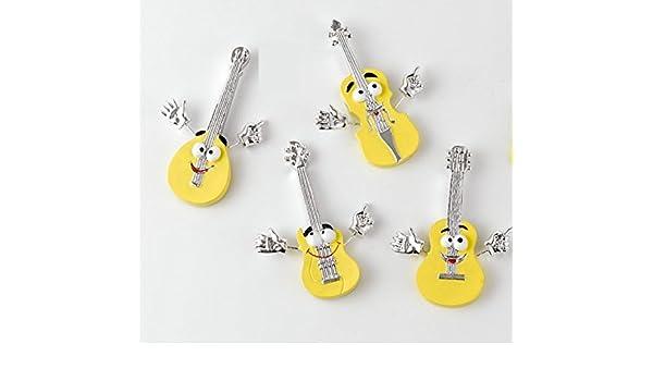 12 piezas Guitarra Violín Mandolina Emoji Emoticon Imán Imán Resina: Amazon.es: Hogar