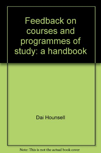 Feedback on courses and programmes of study: a handbook