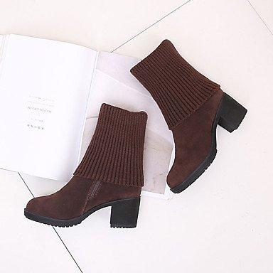 Wsx & Plm Femmes-bottines-casual-confort-flat-pu (polyuréthane) -black Brown, Marron, Us8 / Eu39 / Uk6 / Cn39