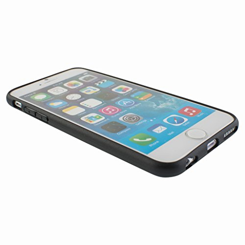 Better Style Apple iphone 6 Case cover, TPU Rubber Ultra Thin Bumper Twin Colour Case Frame Protective Cover For iPhone 6 (Black)