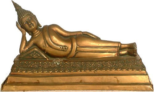 Aone India Thai Mahaparinirvana Buddha - Brass Sculpture + Cash Envelope (Pack Of 10) by AONE INDIA