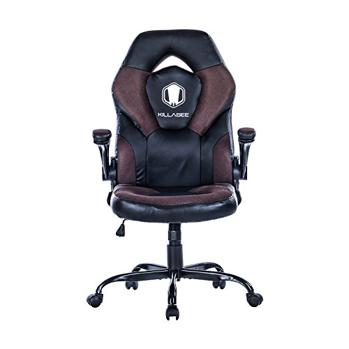 Killabee Racing Style Gaming Chair Flip Up Arms