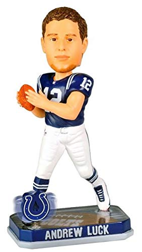 - Indianapolis Colts Luck A. #12 2014 Springy Logo Base Bobble Road