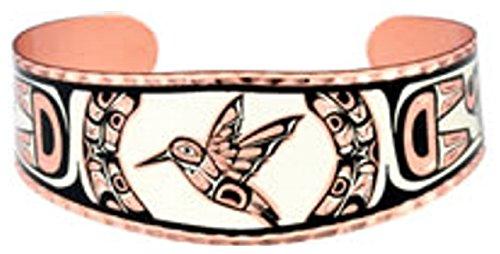 Copper Cuff Hummingbird Unisex Bracelet Southwest Native Design Origin.