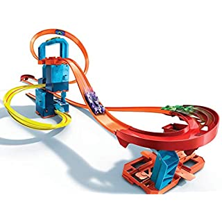 Hot Wheels Track Builder Unlimited Ultra Stackable Booster Kit Motorized Set 5 Plus Configurations Stunt Parts Compatible id Gift idea for Kids 6 to10 and Older