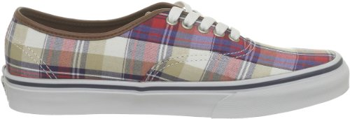 Vans U AUTHENTIC (PLAID) RED/BLU VSCQ7O8, Unisex-Erwachsene Sneaker Mehrfarbig (Plaid) red/blu)