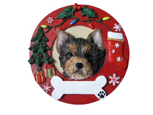 E&S Pets Yorkie Pup Personalized Christmas Ornament