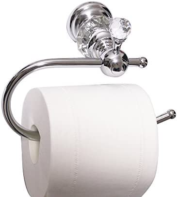 Amazon Com Nokozan Luxury Crystal Series Toilet Paper Holder Wall Mouted Chrome Home Kitchen
