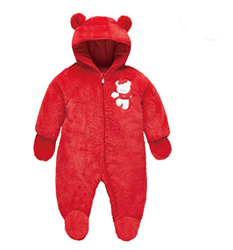 LJ Infant and Toddler Fleece Lined Ultralight Quilting One Piece Snowsuit Snowsuit for 3-6month