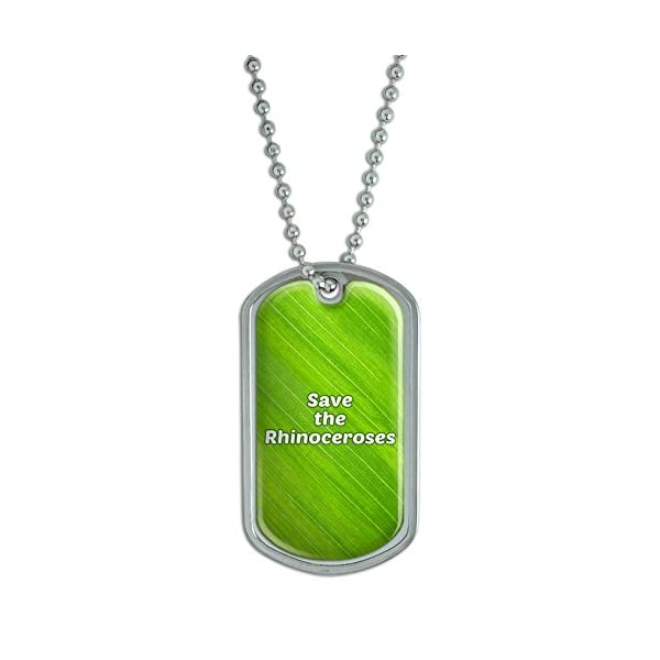Dog Tag Pendant Necklace Chain Save The Endangered Animals Species K-Z -