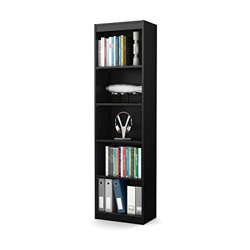 South Shore Axess Collection 5-Shelf Narrow Bookcase, Pure ()