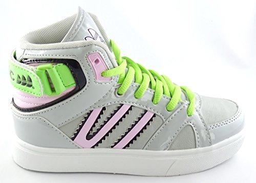 Skater Grau 33 30 Sneaker GR KNÖCHELSCHUHE 1635 Mädchen RnpSqHS