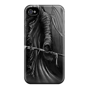 Shock-Absorbing Hard Phone Cases For Iphone 6plus With Support Your Personal Customized Realistic Grim Reaper Image JasonPelletier