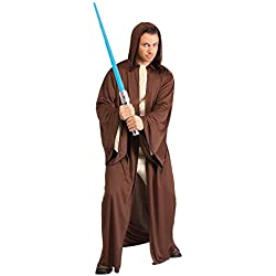 Star Wars Rubie's Adult Hooded Jedi Robe Costume, Brown, One Size Costume