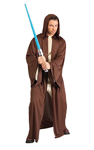 Rubie's Costume Star Wars Adult Hooded Jedi Robe Costume, Brown, One Size Costume (Jedi Costume)