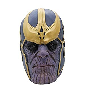 Supervillain Mask Halloween Party Cosplay Latex Costume Mask Movie Replica Costume Accessory Purple