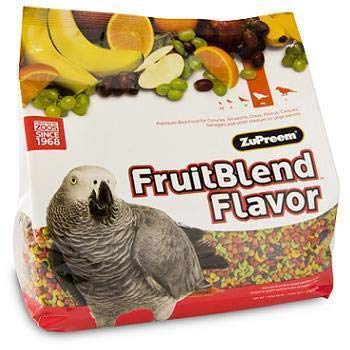 ZuPreem FruitBlend Flavor Pellets Bird Food for Parrots and Conures | Powerful Pellets Made in USA, Naturally Flavored…