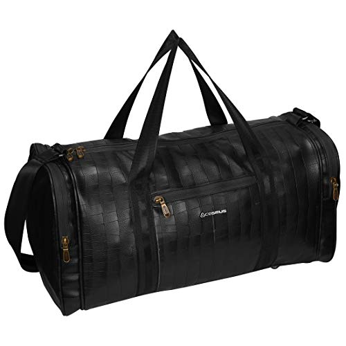 Cosmus Bermuda Travel Duffle Bag 34 liters Black PU Stylish Cabin Duffel Bag