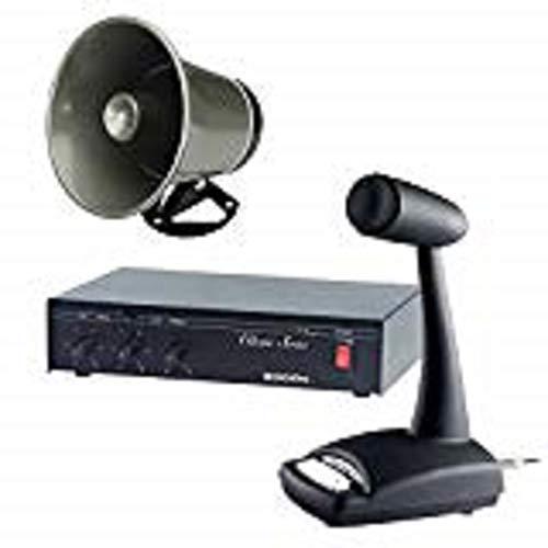 Industrial Grade 10 Watt Paging System with Amplifier, Speaker, Mixer, Microphone (Ddu250 Desktop)