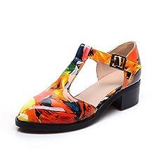 AdeeSu Womens Low-Heels Romanesque Style Polyurethane Sandals