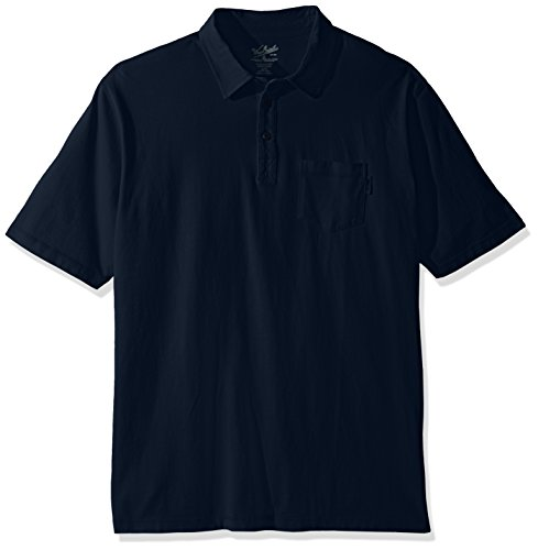 (Woolrich Men's Tall Size First Forks One Pocket Polo Long, Deep Indigo Large )