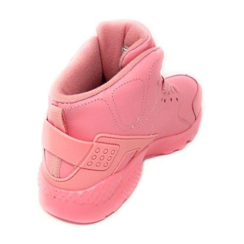 Jth018 Mujer Rosa Jt Zapatillas Altas 7qd6w6g