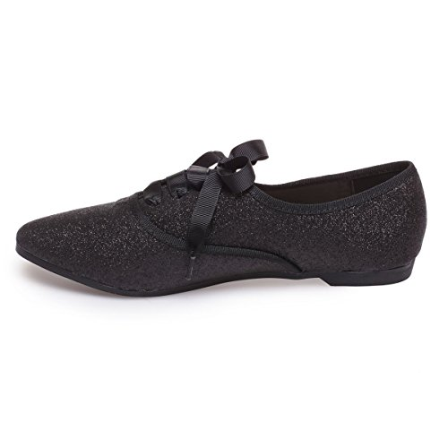 Cordones Mujer Zapatos Para Modeuse Negro La De 1wBgtxAXq