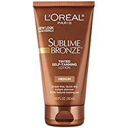 L'Oreal Paris Sublime Bronze Tinted Self-Tanning Lotion, Medium Natural Tan, 5 fl. oz.
