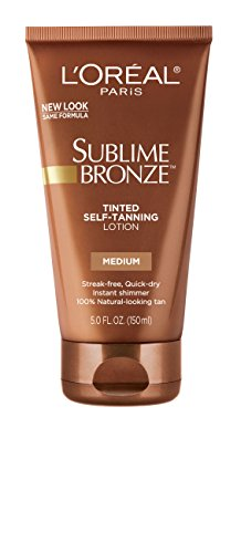 L'Oreal Paris Sublime Bronze Tinted Self-Tanning Lotion, ...
