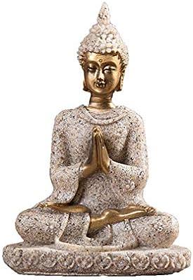 ypypiaol Estatua De Buda De Piedra Arenisca Escultura Figura Hecha A Mano Decoración De Artesanía De Oficina En Casa 1#: Amazon.es: Hogar