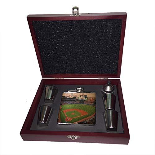 新着商品 Sunshine ギフトセット Cases 木製ボックス アトランタ野球絵画 6オンス B07KVGK4SJ Liquor ヒップフラスコ 木製ボックス ギフトセット ショットグラス&じょうご B07KVGK4SJ, ピッチーノ:8c679269 --- a0267596.xsph.ru