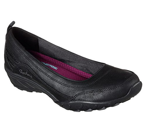 Womens Relaxed On Savvy Nobody's Loafers Fool Fit Black Skechers Slip S6wqOq