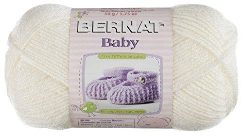 Bernat Baby Solid Yarn - (1) Super Fine Gauge  - 1.7 oz -   White  -  Machine Wash & Dry For Crochet, Knitting & Crafting