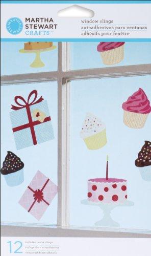 Martha Stewart Crafts EK Success Modern Festive Window Clings