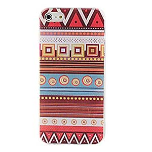 QJM Multicolored Vaious Shaped Patterns Transparent Frame Hard Case for iPhone 5/5S