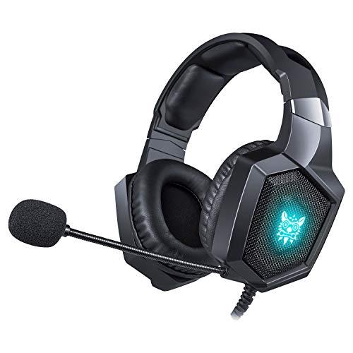 Love life Gaming Headset PS4, Auriculares estéreo para Juegos con luz LED y micrófono con cancelación de Ruido para...