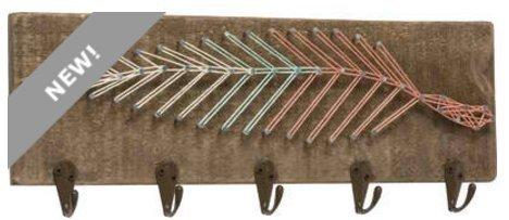 Primitives By Kathy, String Art Key Rack - Feather