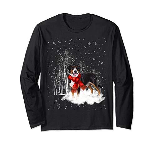 Greater Swiss Mountain Dog Snow Christmas Long Sleeve-