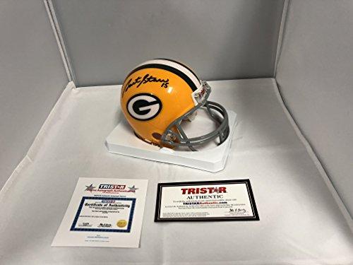 Bart Starr Signed Autographed Green Bay Packers Mini Helmet Tristar Authentnic Hologram & COA