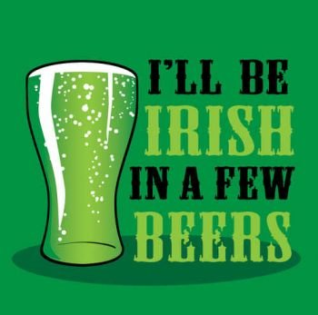Creative Converting St. Patrick's Day Beverage Napkins, I'll be Irish in a Few Beers, 18 Per Package