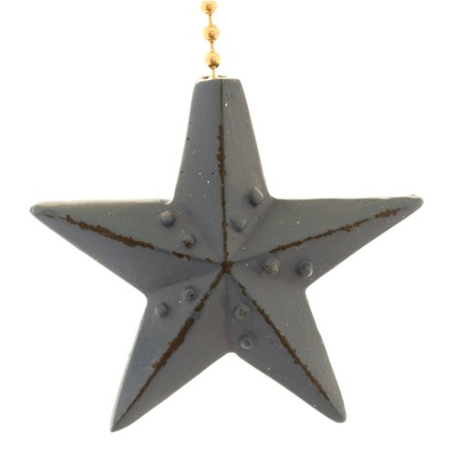 Clementine Designs Navy Blue Barn Star Ceiling Fan Pull Decorative Light Chain Double Sided