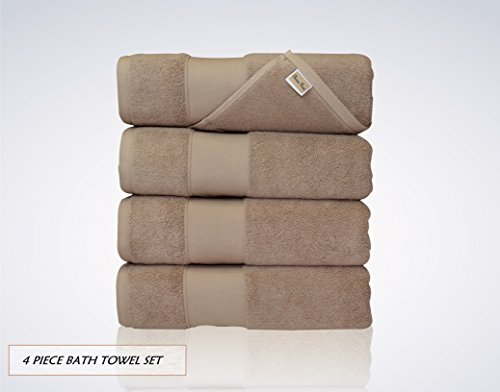 Lint Free 4 Piece Turkish Shower Bath Towel Set Clearance Pr