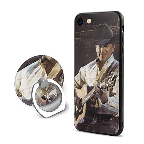 Robert R Castleberry George Strait It Just Comes Natural Custom Phone Case iPhone 7/8 Mobile Phone Shell Ring Bracket,Suitable for 4.7 Inches