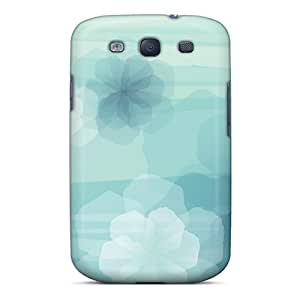 Samsung Galaxy S3 OHV13175ppgx Provide Private Custom Stylish Blue Flowers Pattern Shock-Absorbing Hard Phone Cover -SherriFakhry