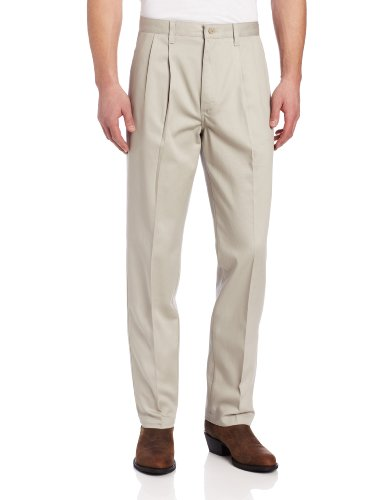 - Wrangler Men's Tall Riata Pleat Front Twill Pant,Putty,34x38