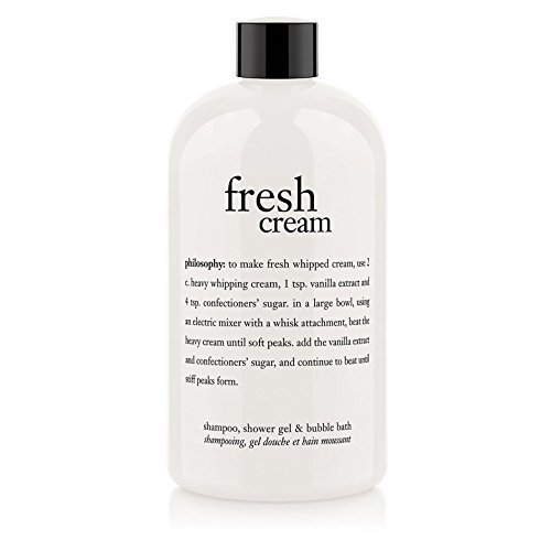 Philosophy Fresh Cream Shampoo, Shower Gel & Bubble Bath for Unisex, 16 Ounce